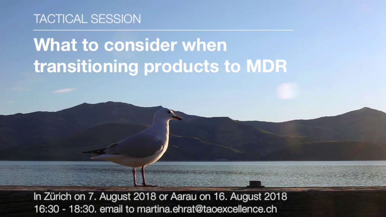 Tactical Session: What to consider when transitioning products to MDR